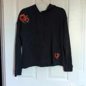 American Eagle rose hoodie